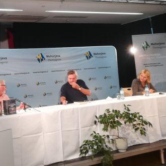 Bild zu:Drago Jančar v pogovoru s Horstom Ogrisom I Drago Jančar im Gespräch mit Horst Ogris