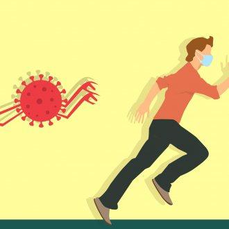 Bild zu:Stres v času pandemije I Stress während der Pandemie