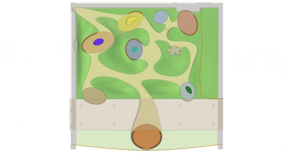 """Entwurf für """"Liquid Gardens"""" von Tomas Hoke"""