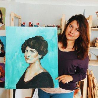 Suzan Fakia gibt Einblicke in ihr künstlerisches Schaffen.