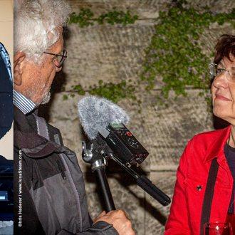 Bachmann-Spielfilm: Klaus Pertl im Gespräch mit Filmproduzentin Bady Minck - Foto: Chris Haderer