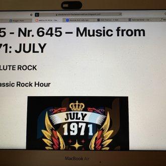 Bild zu:645 - Music from 1971 - JULY