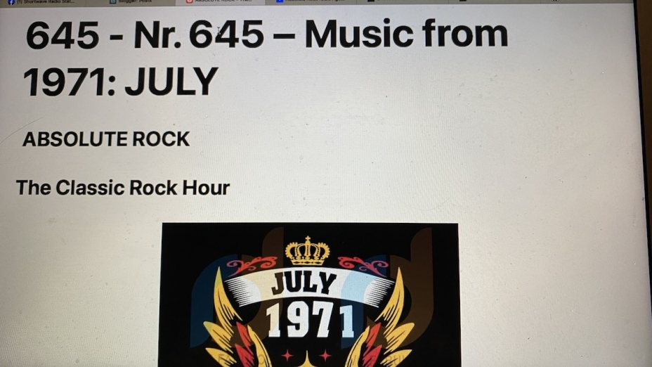 645 - Music from 1971 - JULY