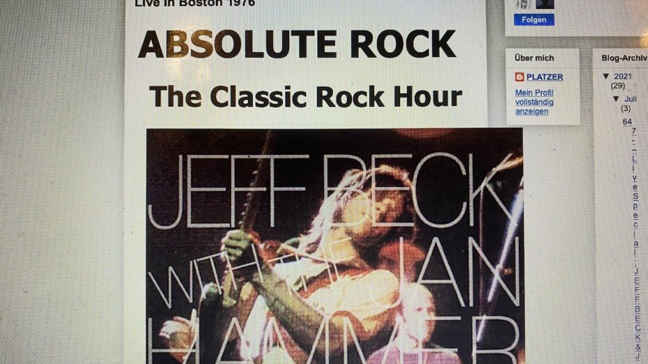 Nr. 647 – Live Special: JEFF BECK & Jan Hammer Group Live in Boston 1976