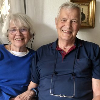 Gerhard Neweklowsky mit seiner Ehefrau Beate