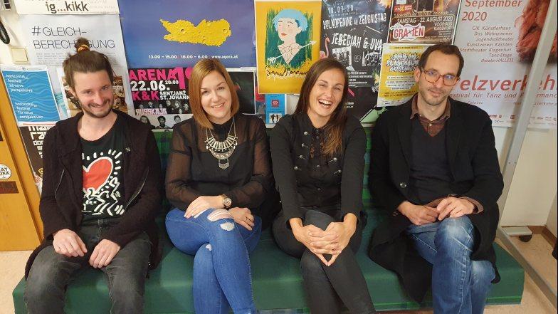 Unser engagiertes Redaktionsteam: Dorian, Asja, Sara und Tomaž (v.l.)