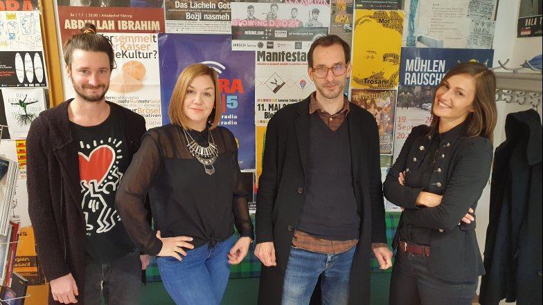 Unser starkes Redaktionsteam: Dorian, Asja, Tomaž und Sara (v.l.)